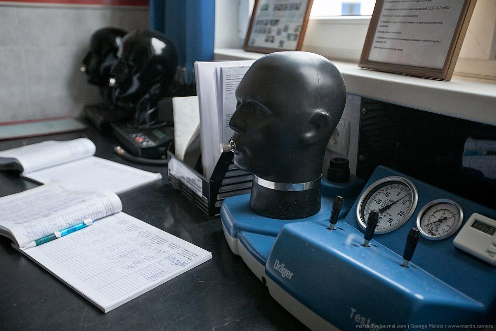 Аппарат для проверки работы дыхательного оборудования.