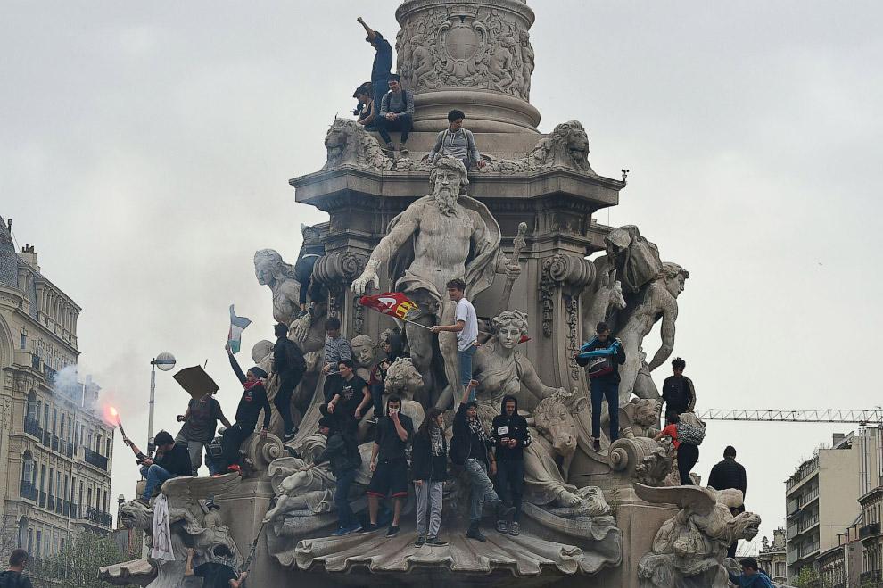 Протесты в Марселе