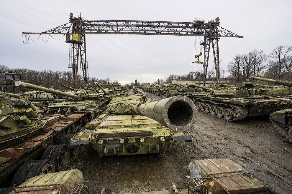Как Украина реставрирует танки времен Холодной войны