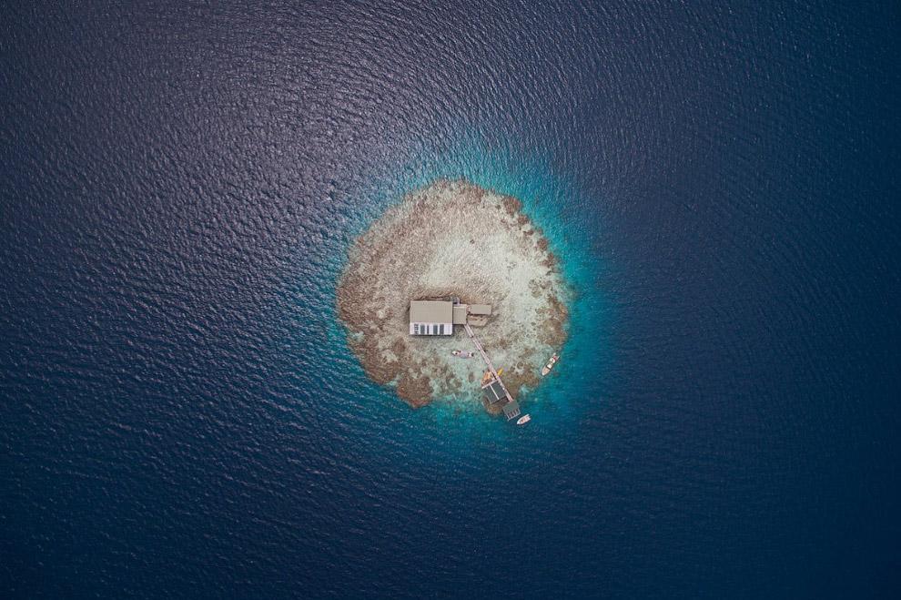 Дом на островах Кука в южной части Тихого океана в Полинезии