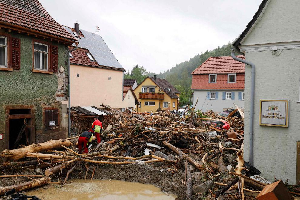 Уютные немецкие улочки превратились в декорации для съемок фильмов-катастроф