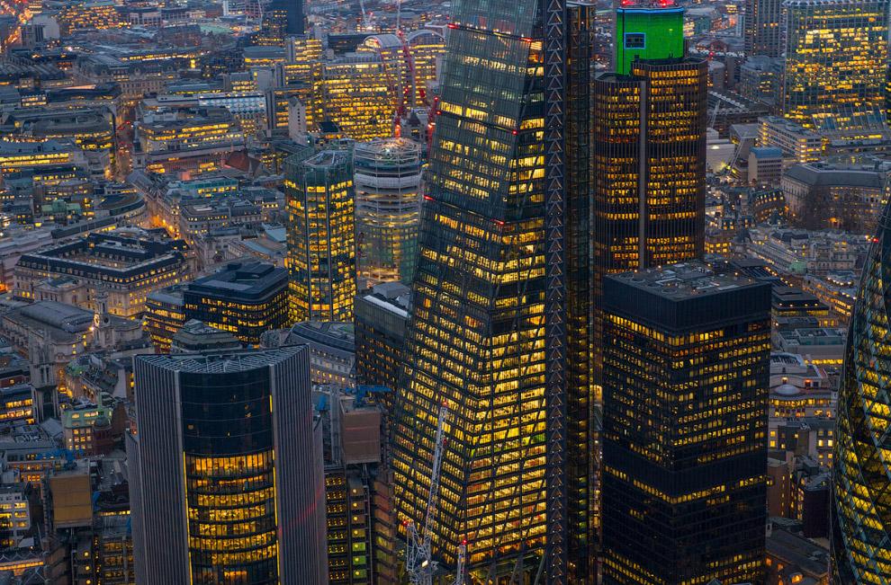 Небоскреб Леденхолл Билдинг в центре Лондона