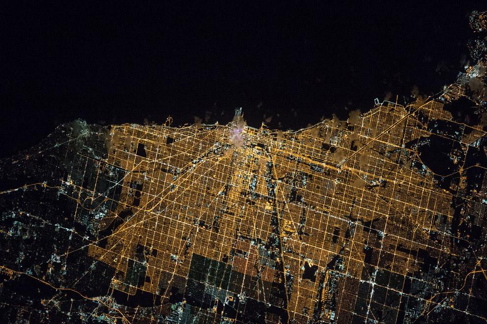 Чикаго в ночное время