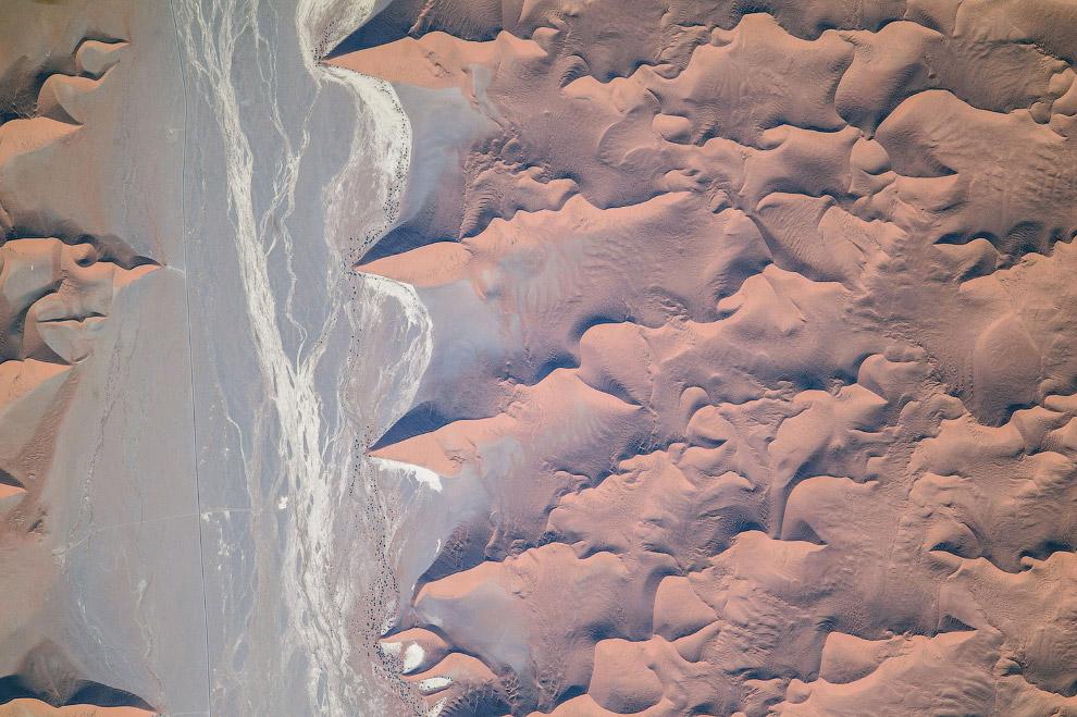 Пустыня Намиб на юго-западе Африки