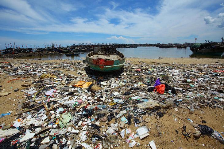 Пляж на юге Китая провинции Хайнань. Красота