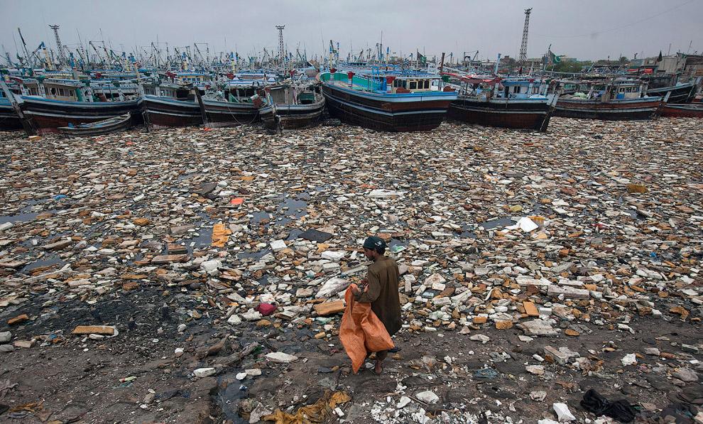 Красивая гавань в Карачи, Пакистан