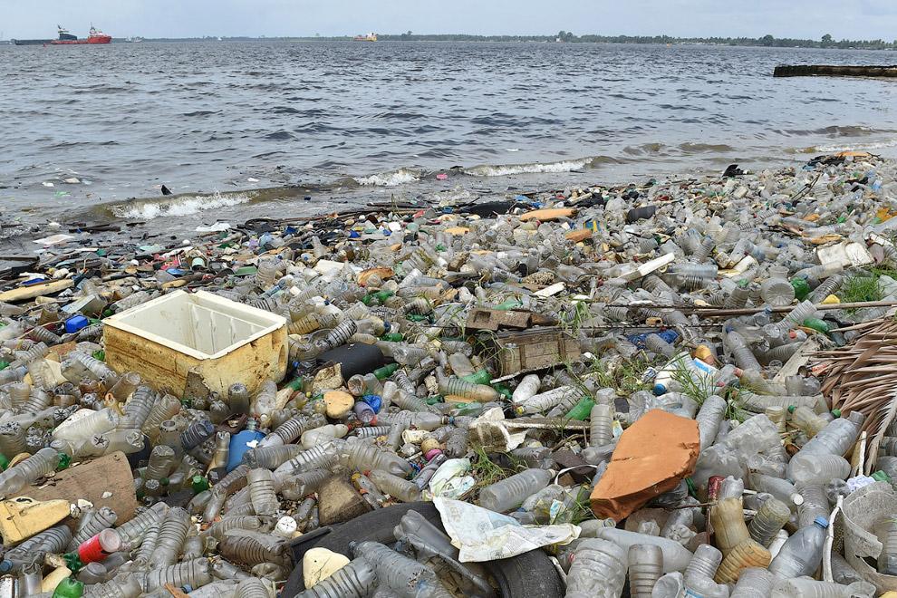 Красивый берег недалеко от порта Абиджан, Кот-д'Ивуар