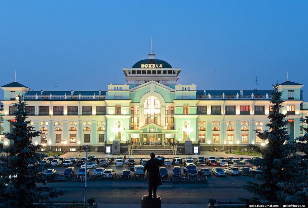Железнодорожный вокзал «Омск-Пассажирский».