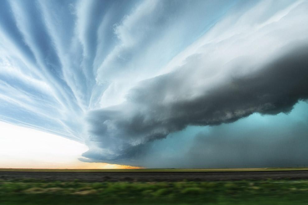 Грозные облака в штате Техас
