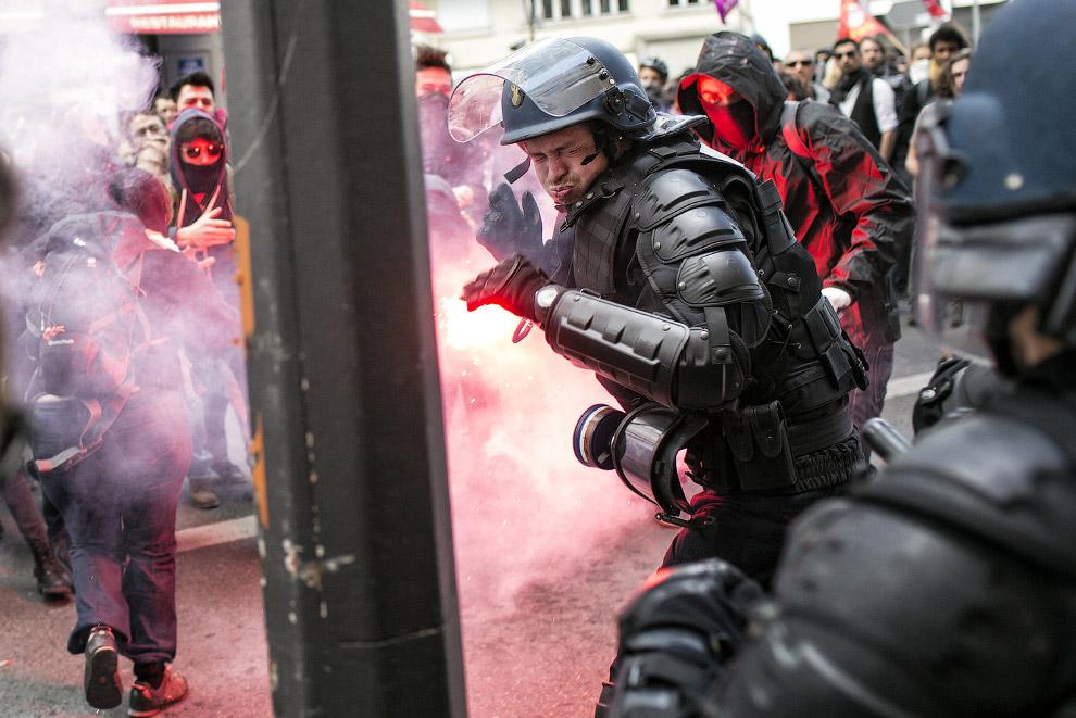 Столкновения в Лионе