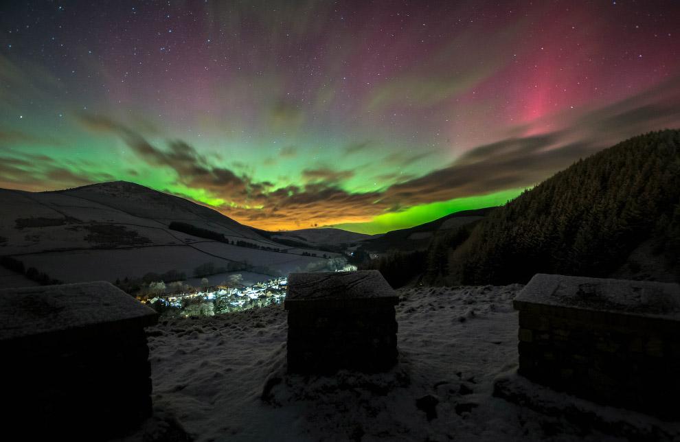 Северное сияние в Шотландии