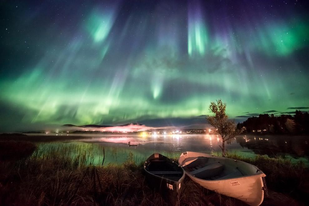 Ночное небо в Финляндии