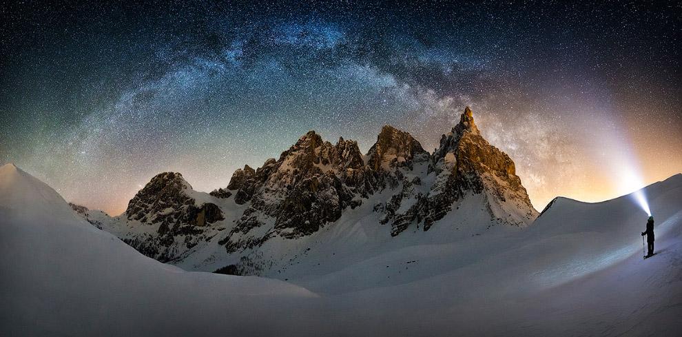 Млечный путь в самом сердце горного хребта на северо-востоке Италии