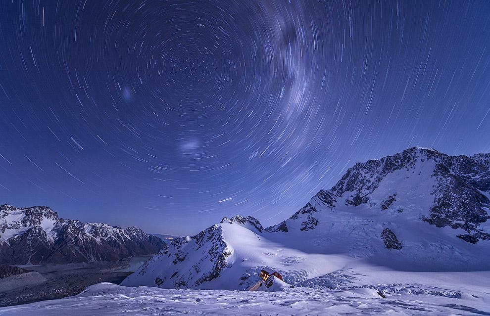 Звездные треки в Национальном парке Гора Кука