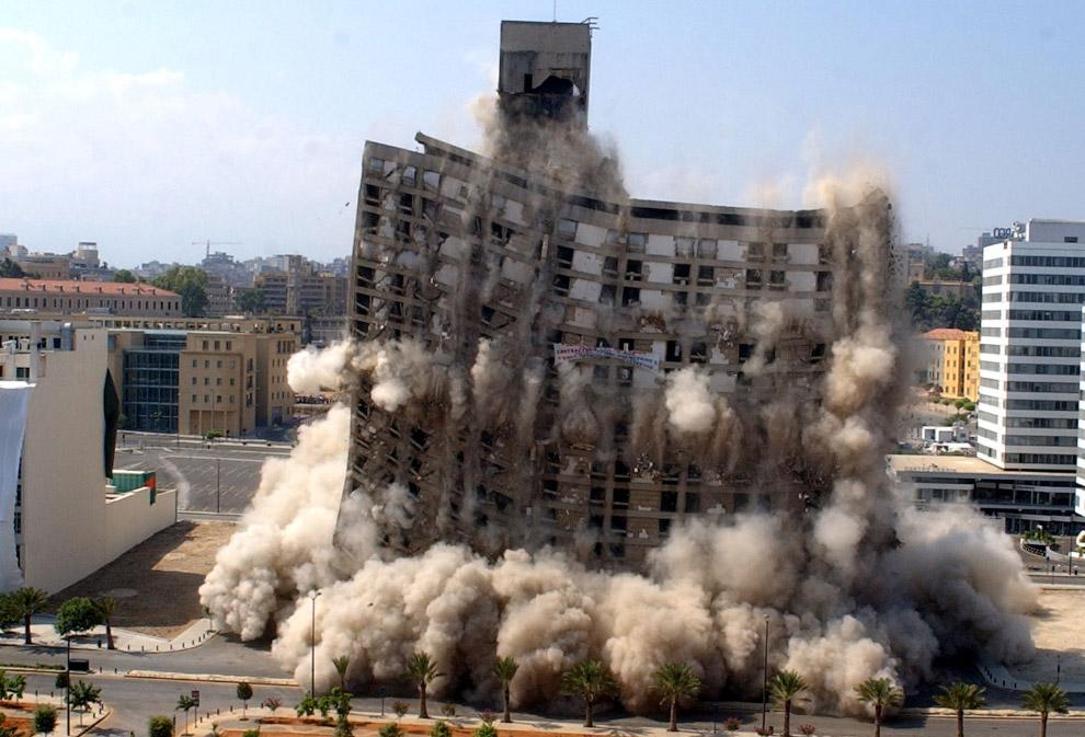 Подрыв 20-этажного отеля Hilton в центре Бейрута