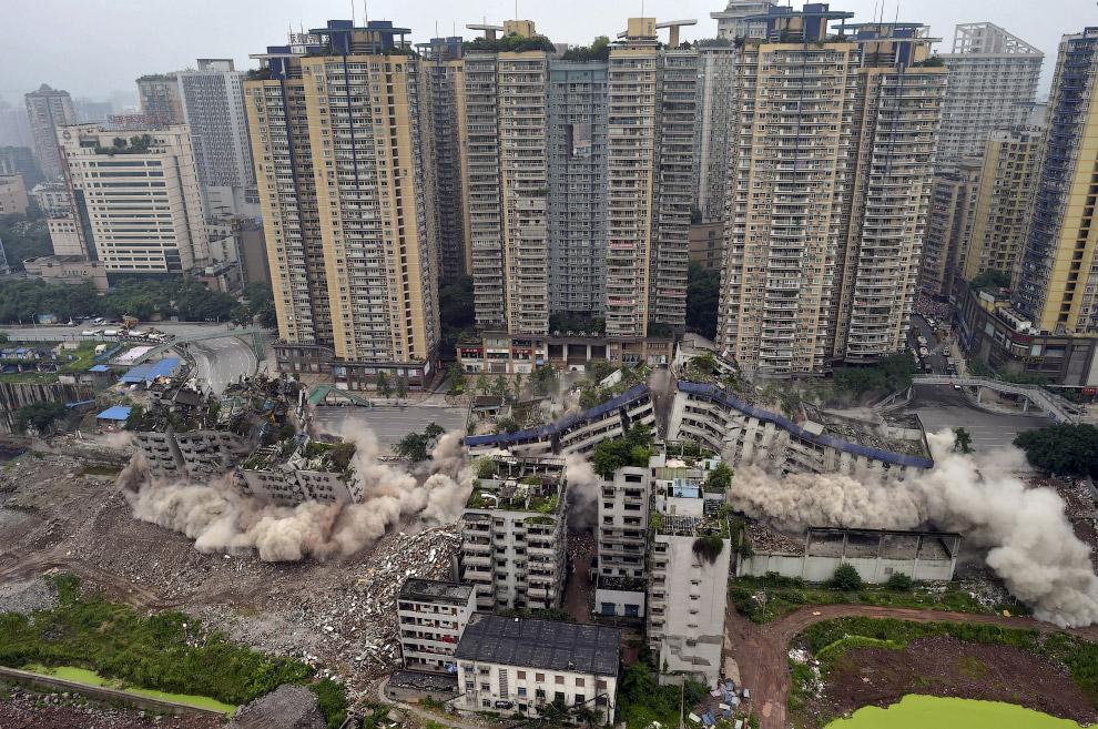 Снос малоэтажек в Чунцине, Китай