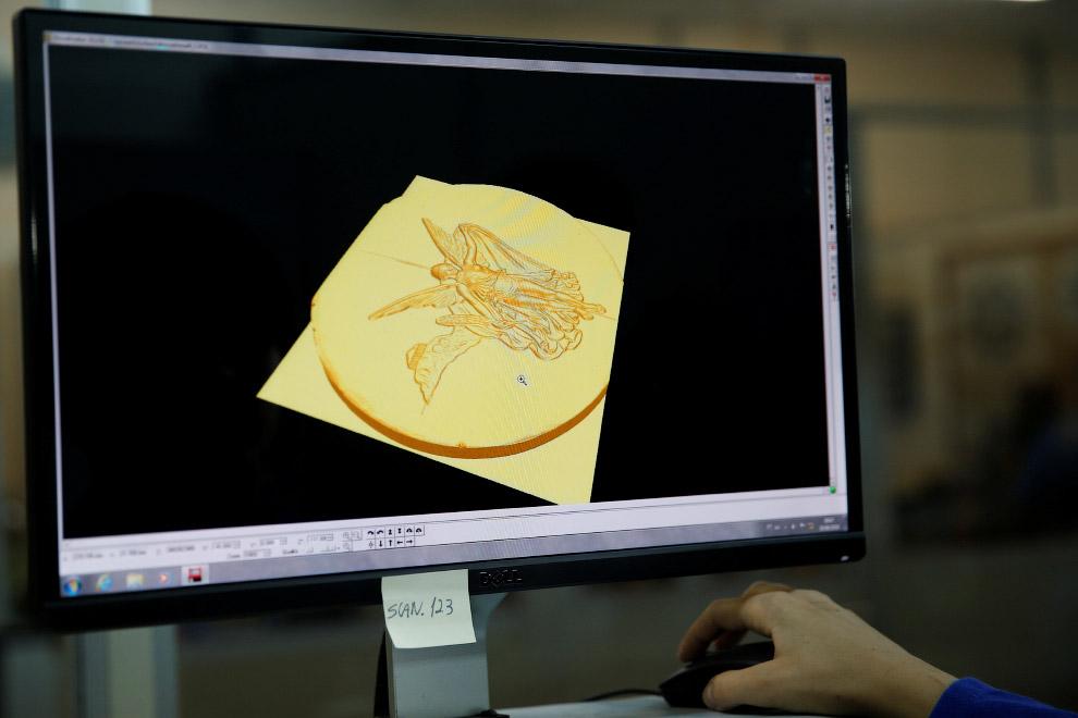 Компьютерная модель олимпийской медали