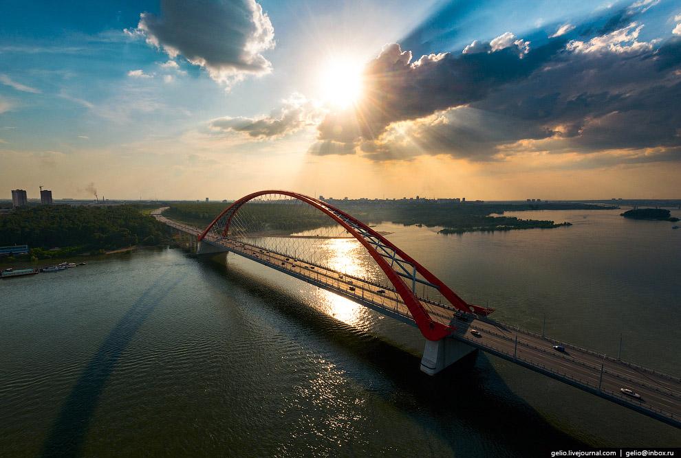 Бугринский мост через Обь.