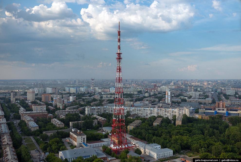 Телевизионная башня РТПС «Новосибирск».