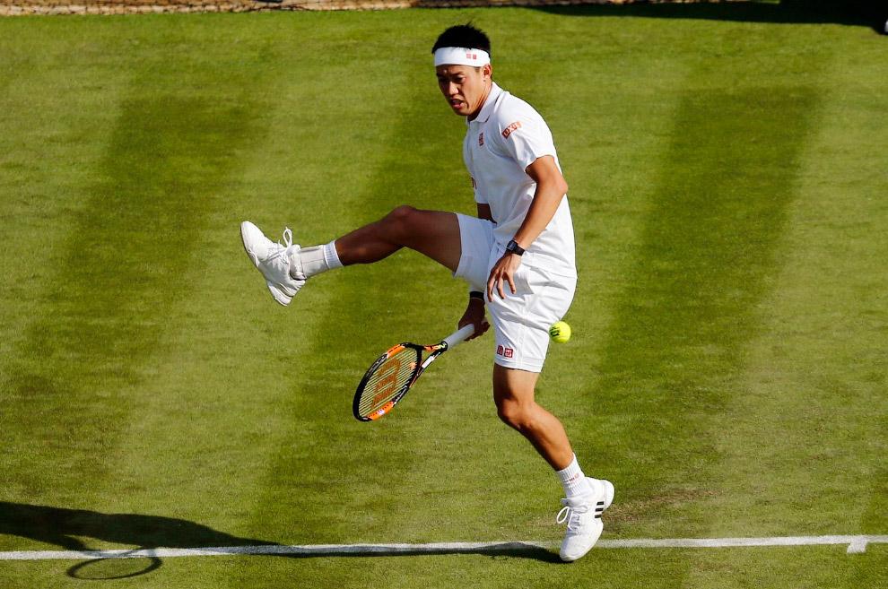 Японский профессиональный теннисист Кэй Нисикори