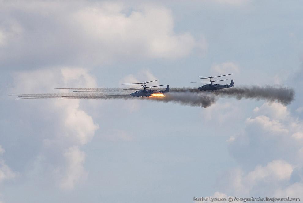 Вертолет Ка-52 «Аллигатор».