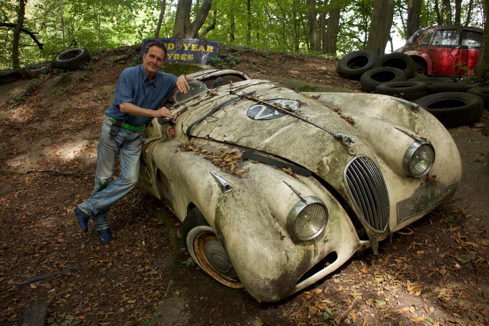 Старый Jaguar XK120