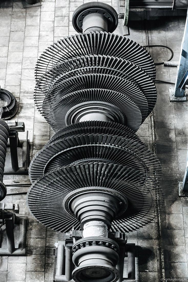 Обычная паровая турбина выглядит примерно так.