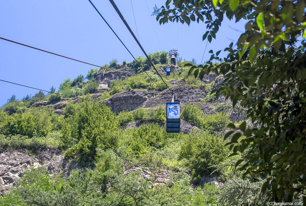 Чиатура — город канатных дорог