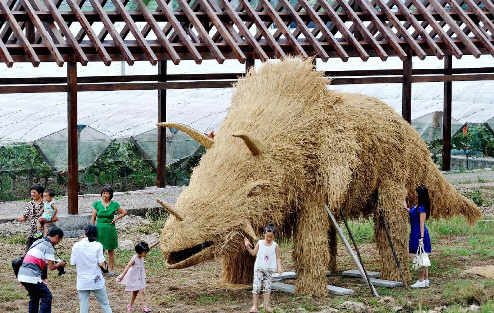 Скульптура из соломы, провинция Цзянси