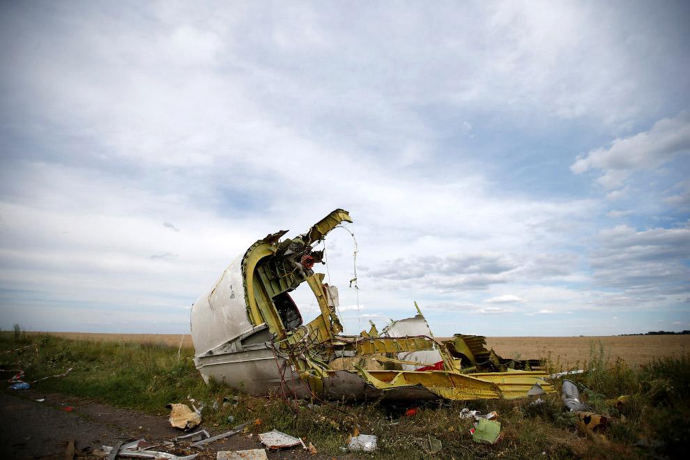 Обломки самолета, Донецкая область
