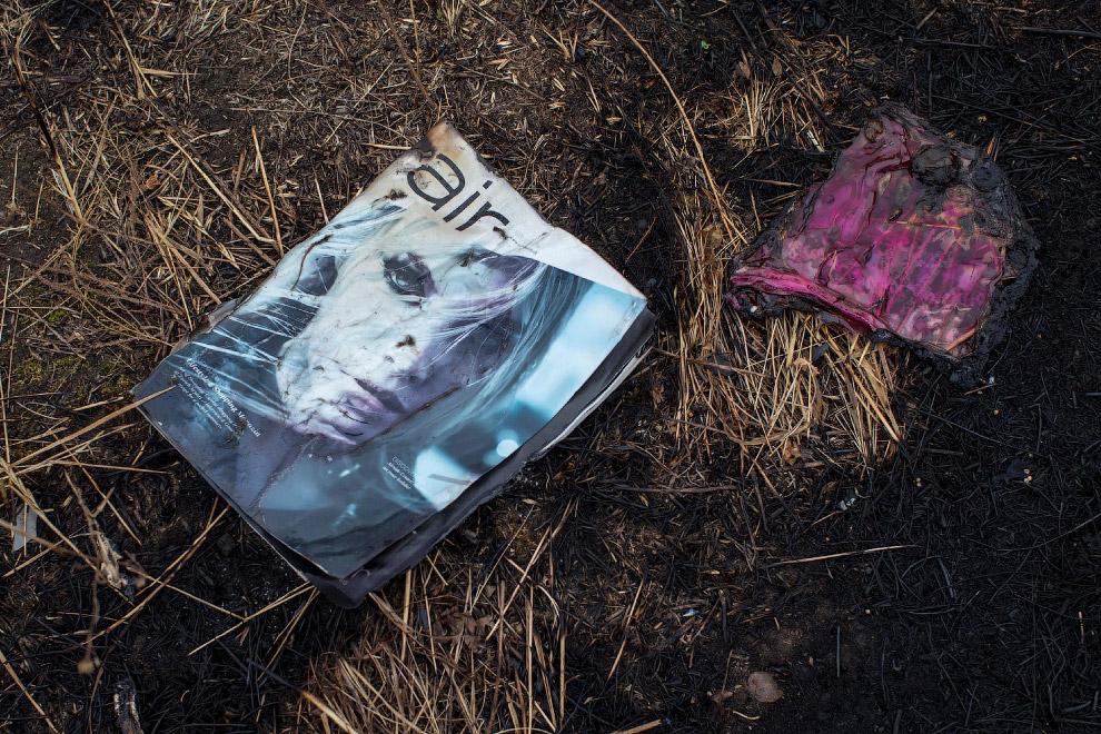 Журнал на обгоревшей земле