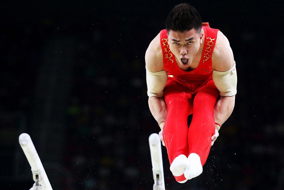 Лицо китайского гимнаста