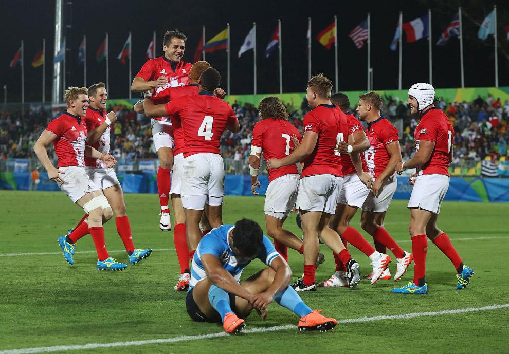 Мужская сборная Великобритании по регби в дополнительное время обыграла Аргентину в четвертьфинале Олимпиады-2016