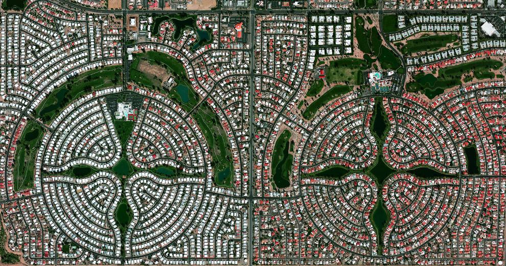 Симметричное поселение в штате Аризона
