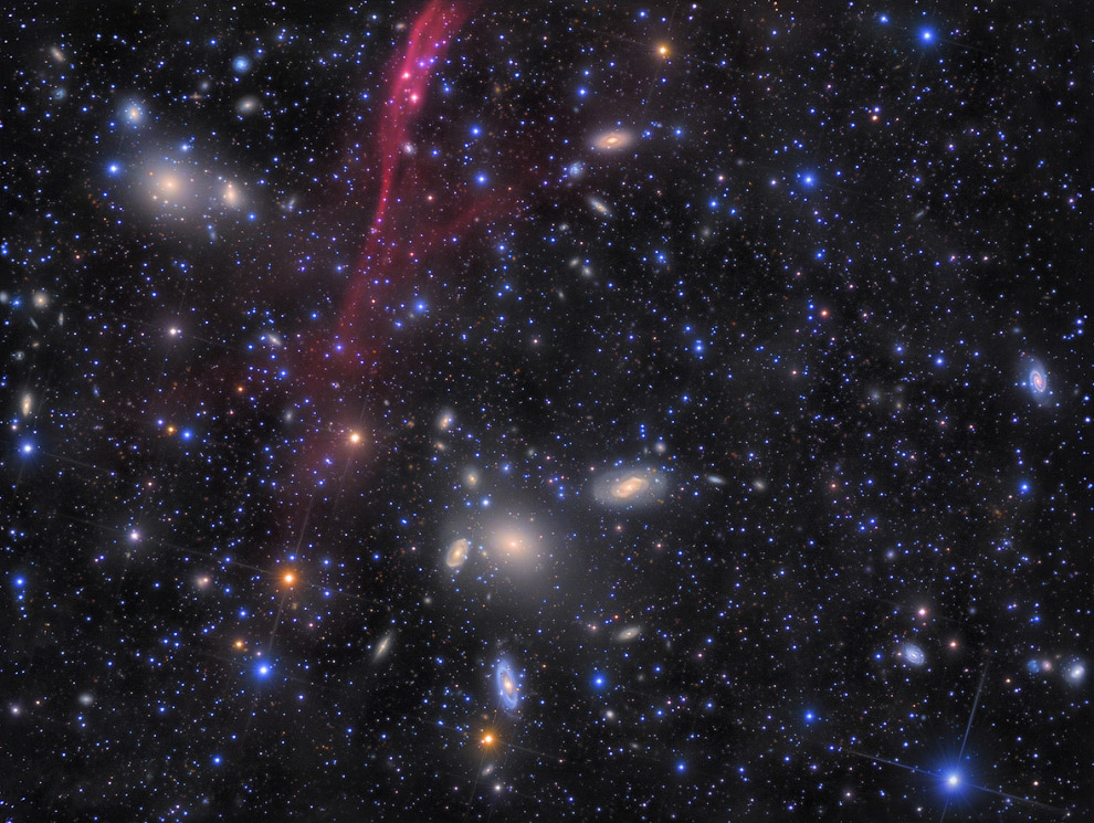 снимок скопления галактик (Abell S0636)