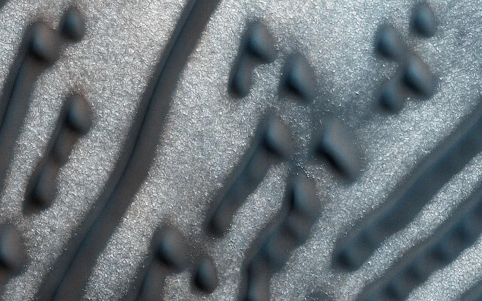Это дюны на Марсе
