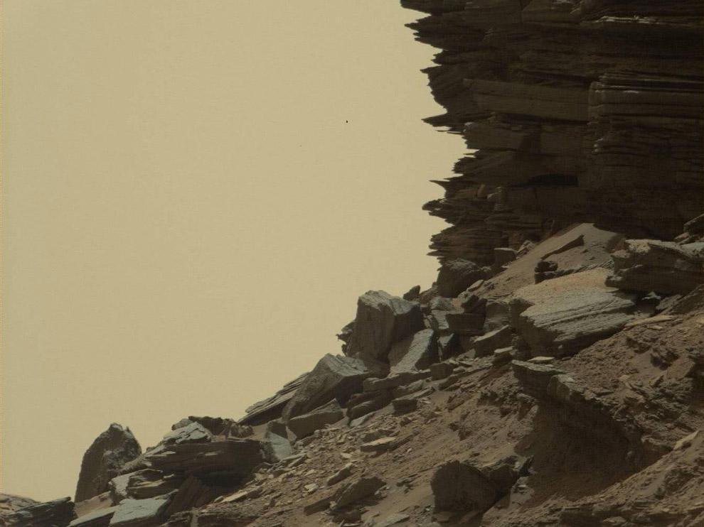 Марсианские пейзажи возле горы Шарп