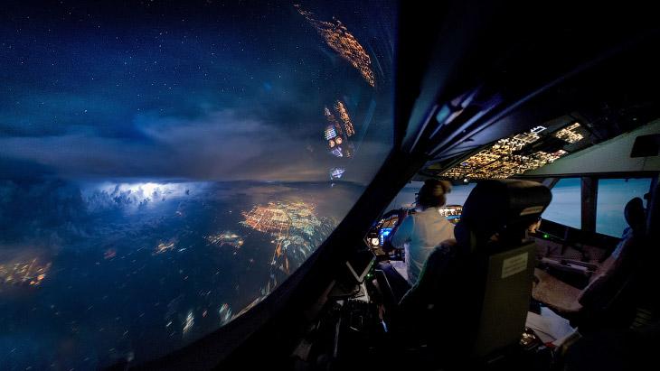 Вид из кабины самолета