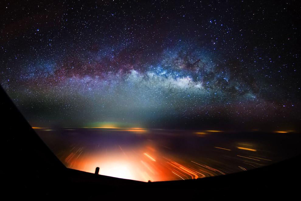 Захватывающий вид ночного неба