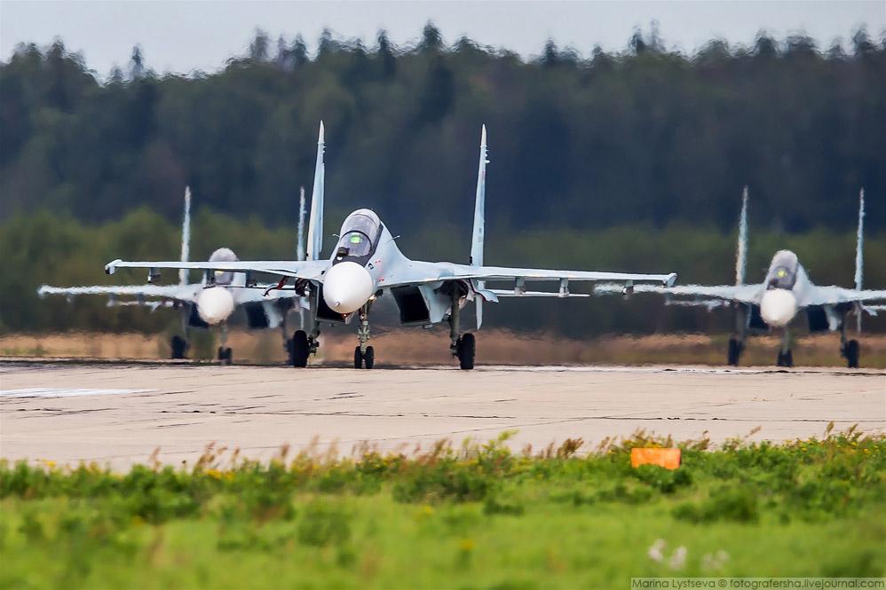 """липецкие Су-30СМ, они же """"Соколы России""""."""