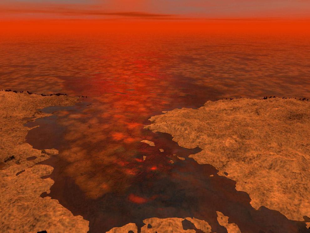 Жидкость на Титане