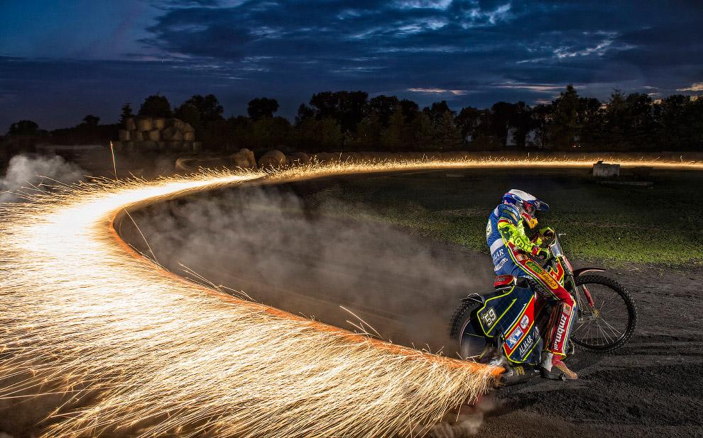 Соревнования на мотоциклах в Польше