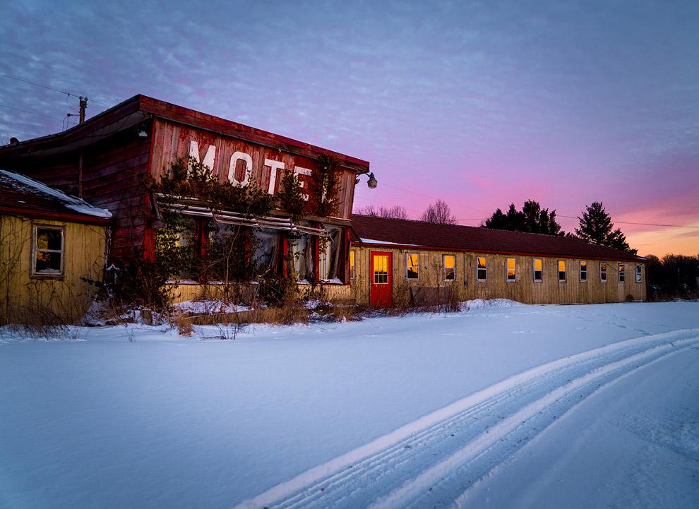 Заброшенный мотель на северном побережье штата Огайо