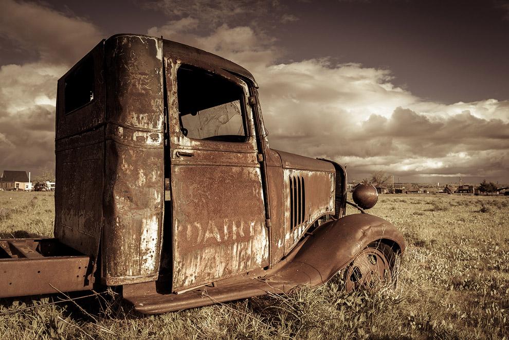 Ржавеющий грузовик в штате Орегон