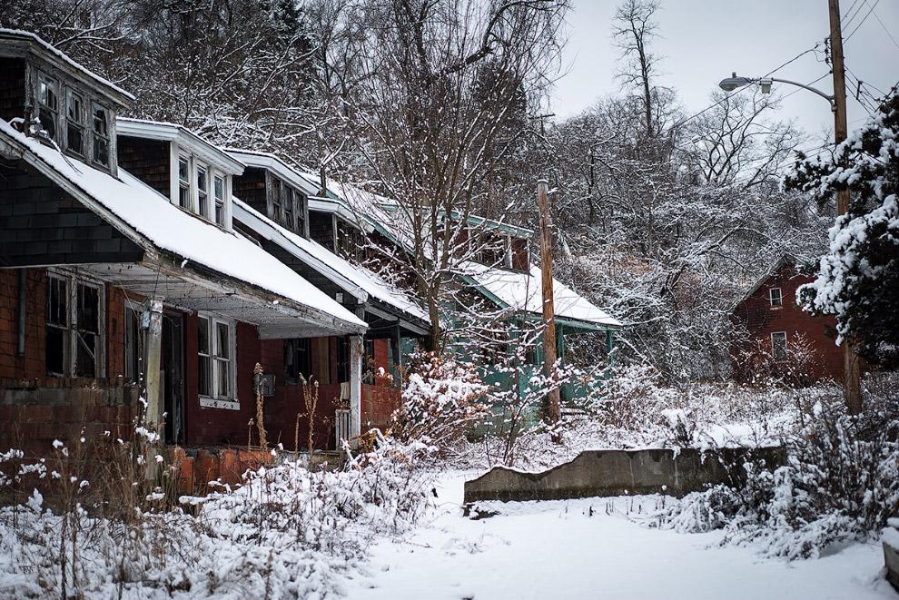 Заброшенный район в Пенсильвании