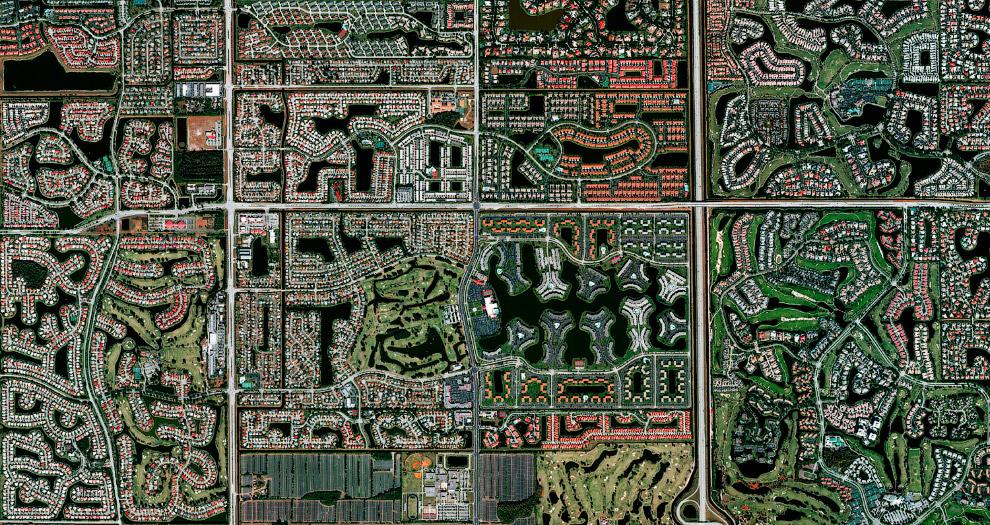 Жилой район в Бока-Ратон, штат Флорида