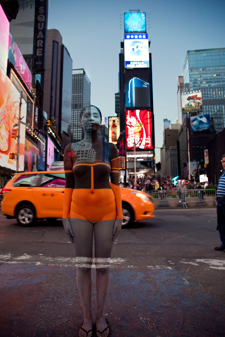 Площади Таймс-сквер в Нью-Йорке, США