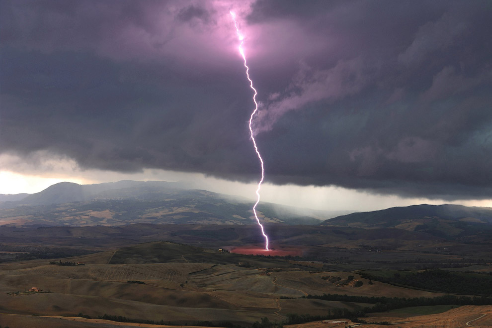 Молния в Тоскане