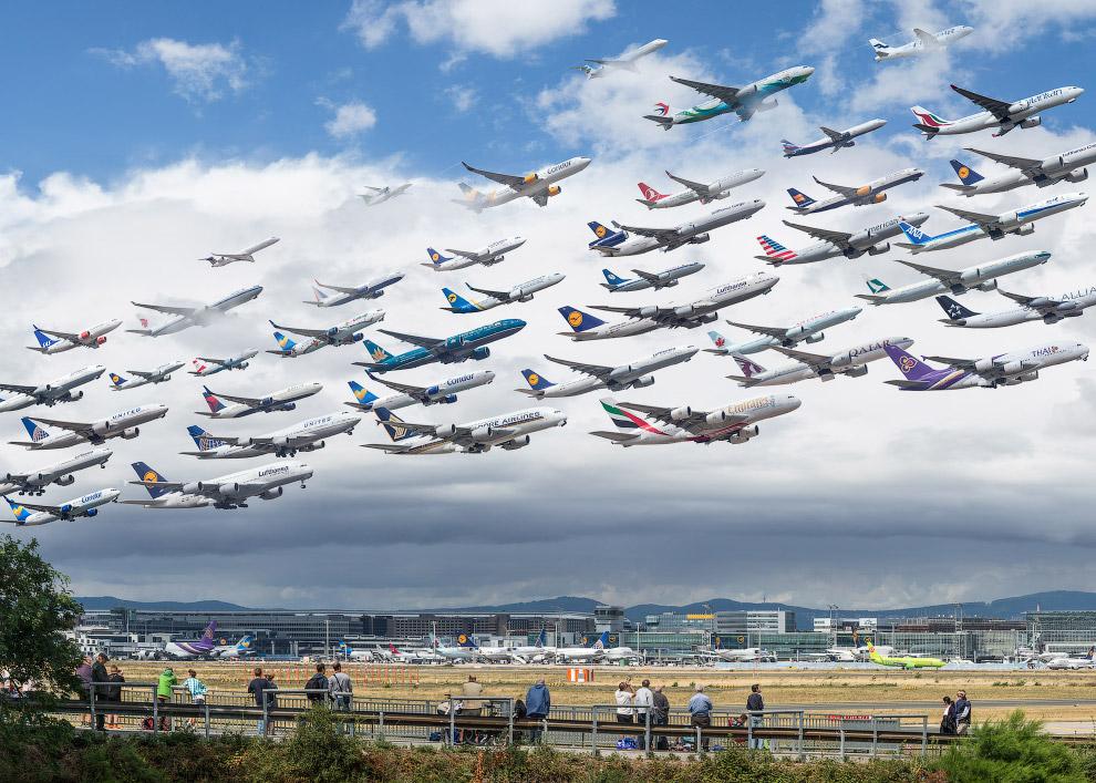Аэропорт Франкфурта, Германия.
