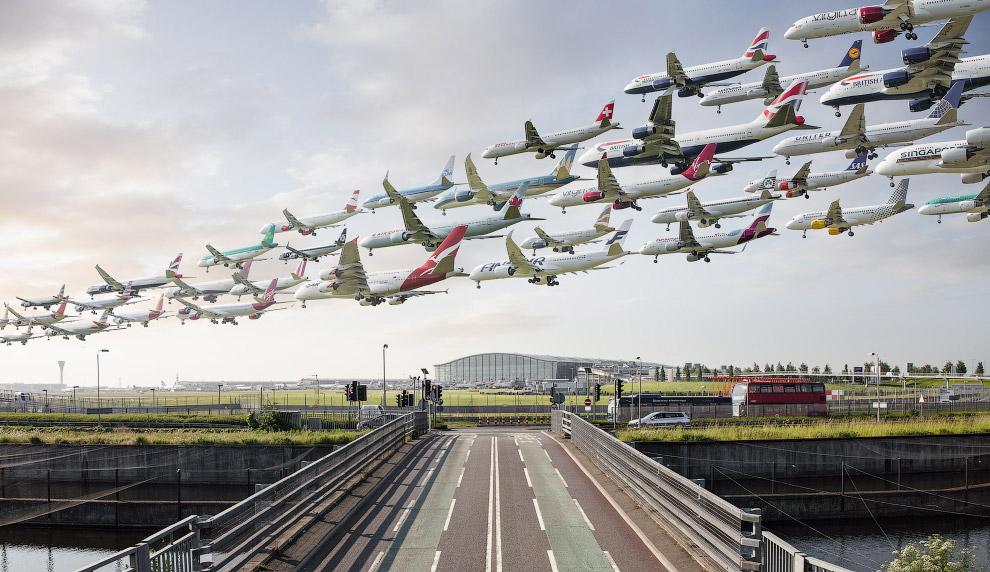 Аэропорт Хитроу, Лондон, Англия.